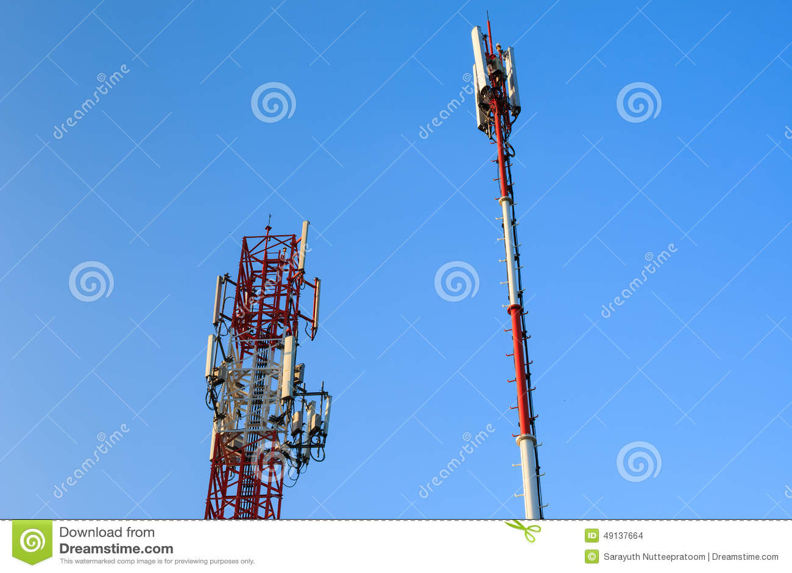 Radio communications towers