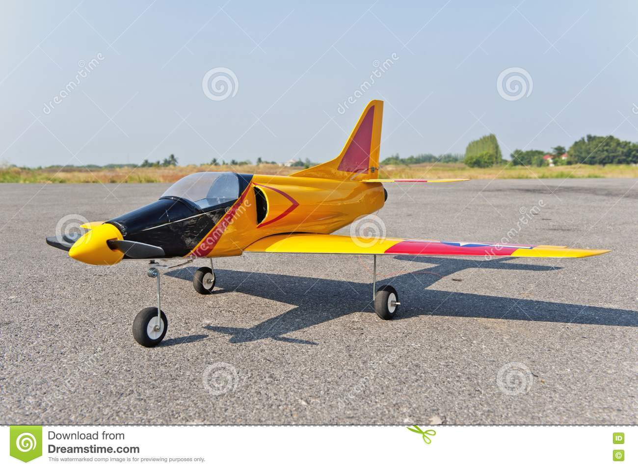 Radio Control Toy Aircraft With Electric Motor Royalty