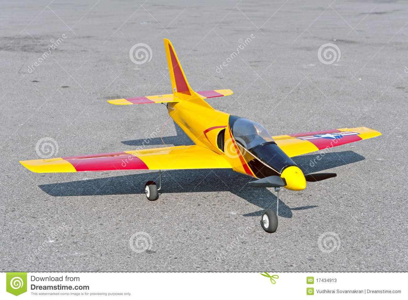 Radio Control Toy Aircraft With Electric Motor Stock