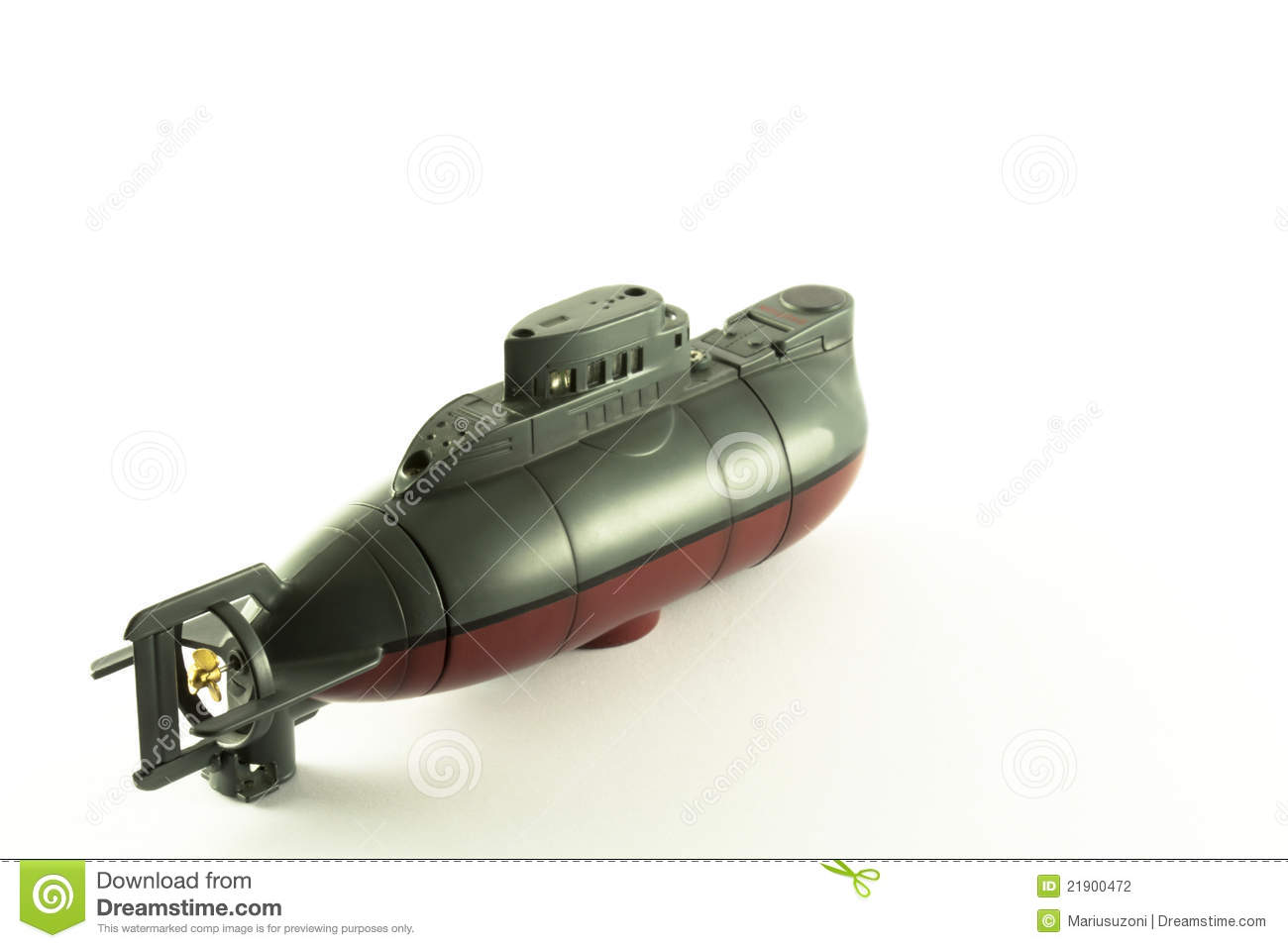 Radio Controlled Submarine And His Propeller Stock