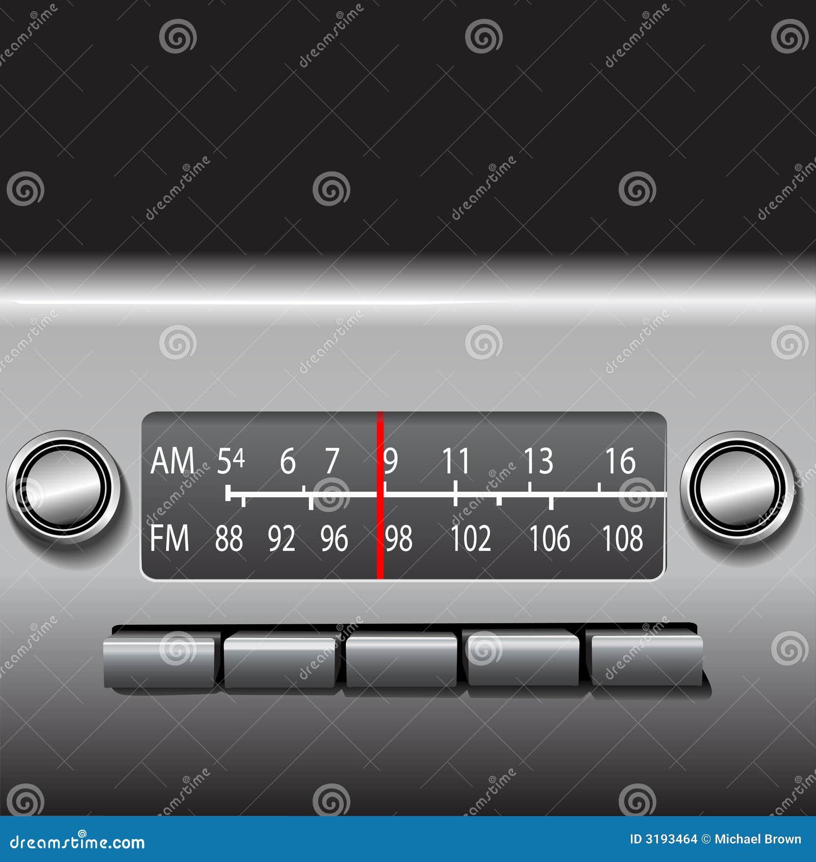 Radio de tableau de bord de véhicule d AM FM