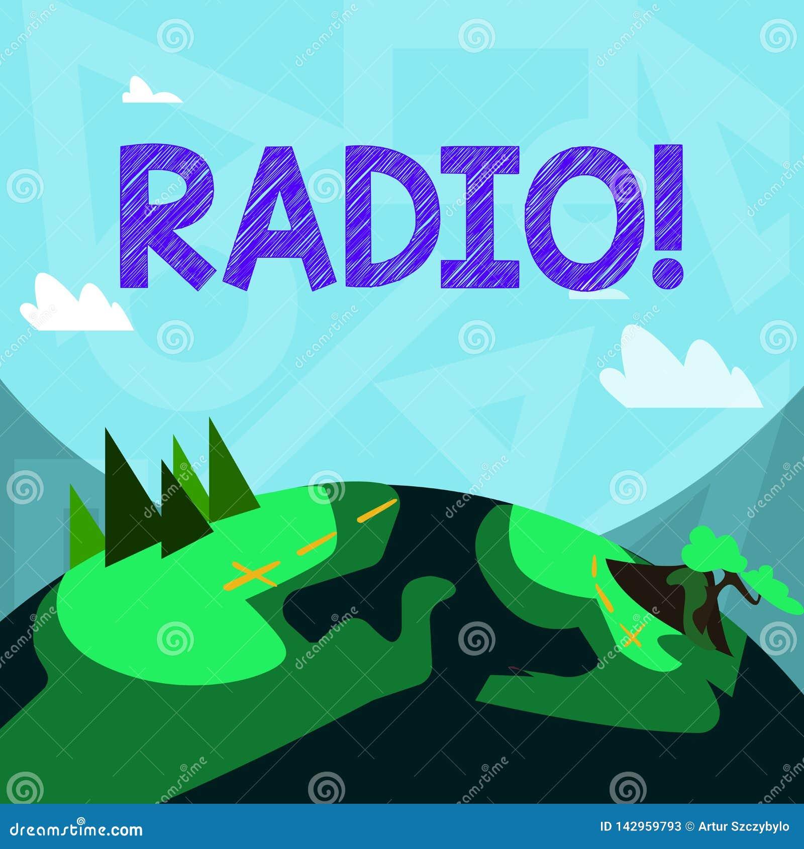 Radio di scrittura del testo della scrittura Attrezzatura elettronica di significato di concetto utilizzata per ascoltare le mani