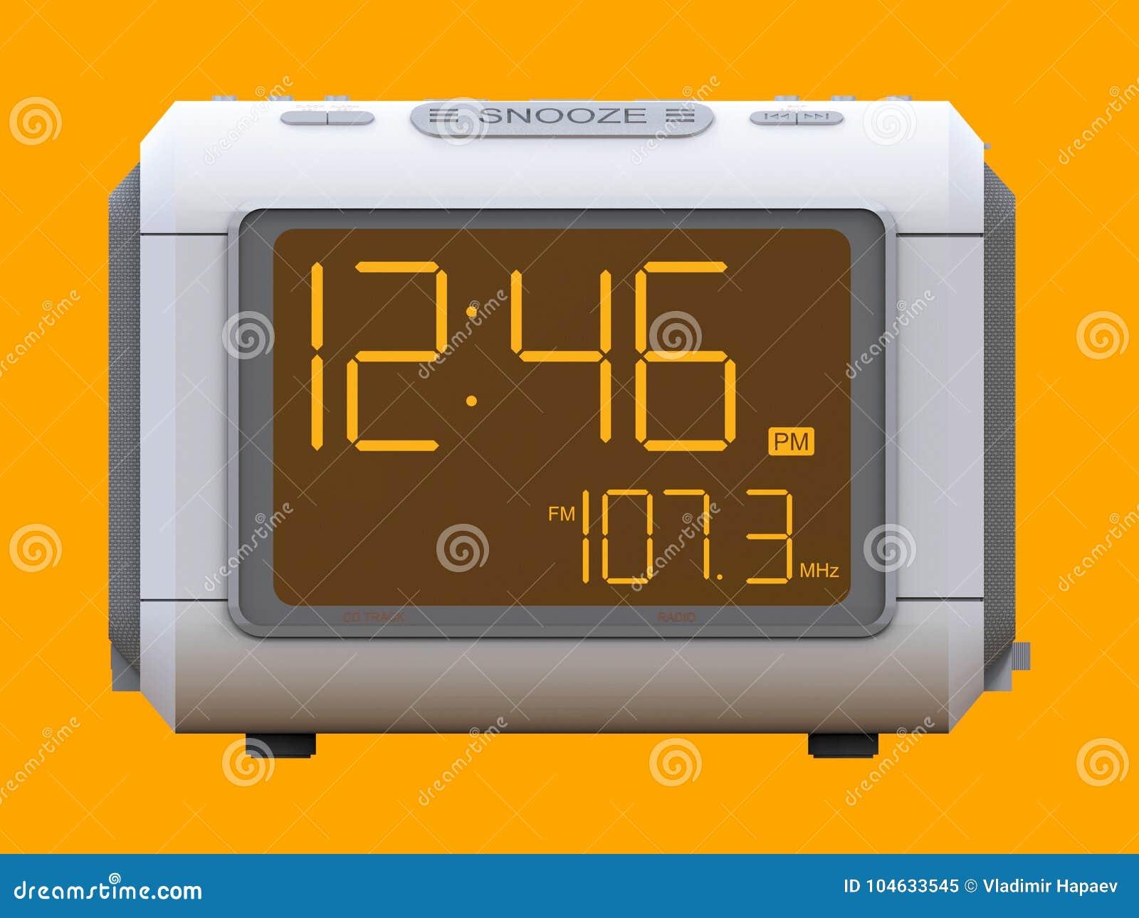 Download Radio Klok-alarm Klok Op Een Oranje Achtergrond Het 3d Teruggeven Stock Illustratie - Illustratie bestaande uit vertoning, herinnering: 104633545