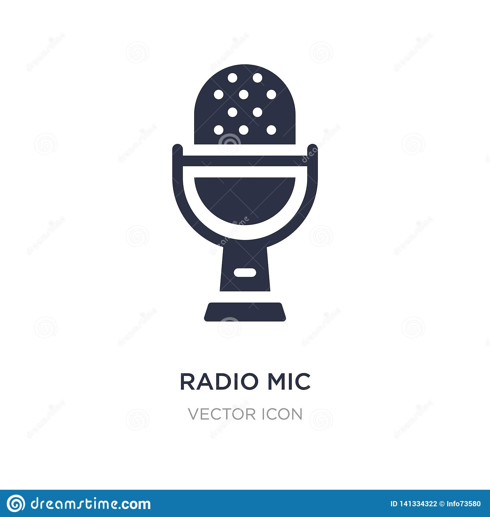 radio mic icon on white background. Simple element illustration from Hardware concept