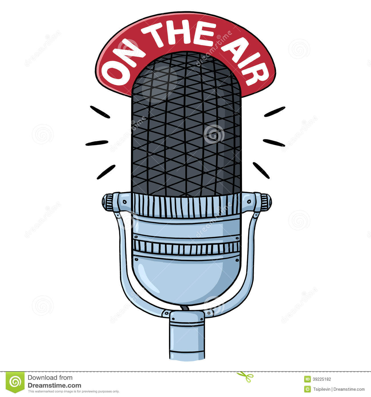 Radio Microphone Illustration Stock Illustration - Image ...