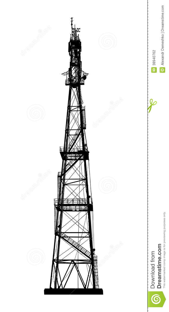 radio or mobile phone base station  stock vector