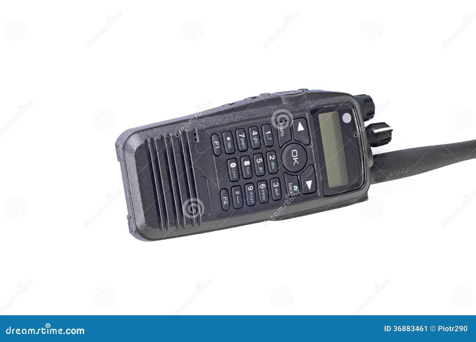Download Radio Portatile Professionale Compatta Nera. Immagine Stock - Immagine di obbligazione, salvataggio: 36883461