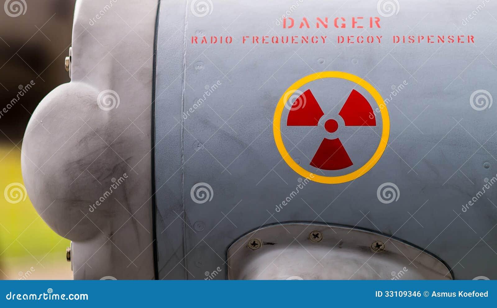 Radio Radiation Danger Sign Stock Photo - Image of symbols, decoy