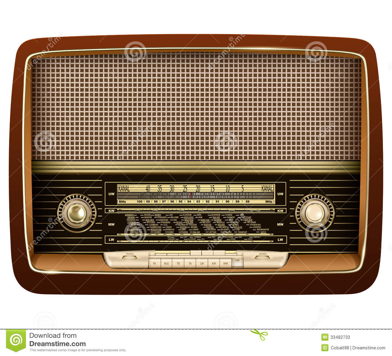 Vintage Radio Vector Art amp Graphics  freevectorcom
