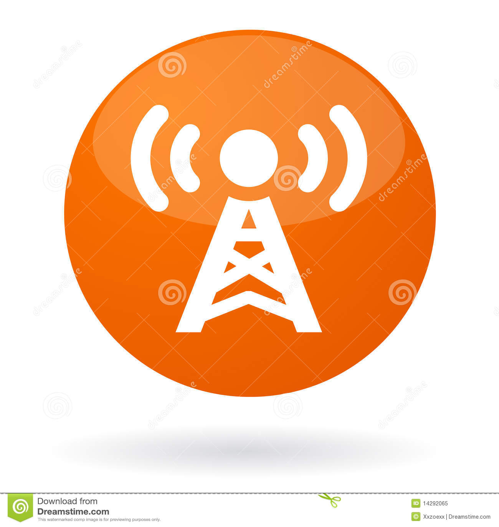 Radio signal button