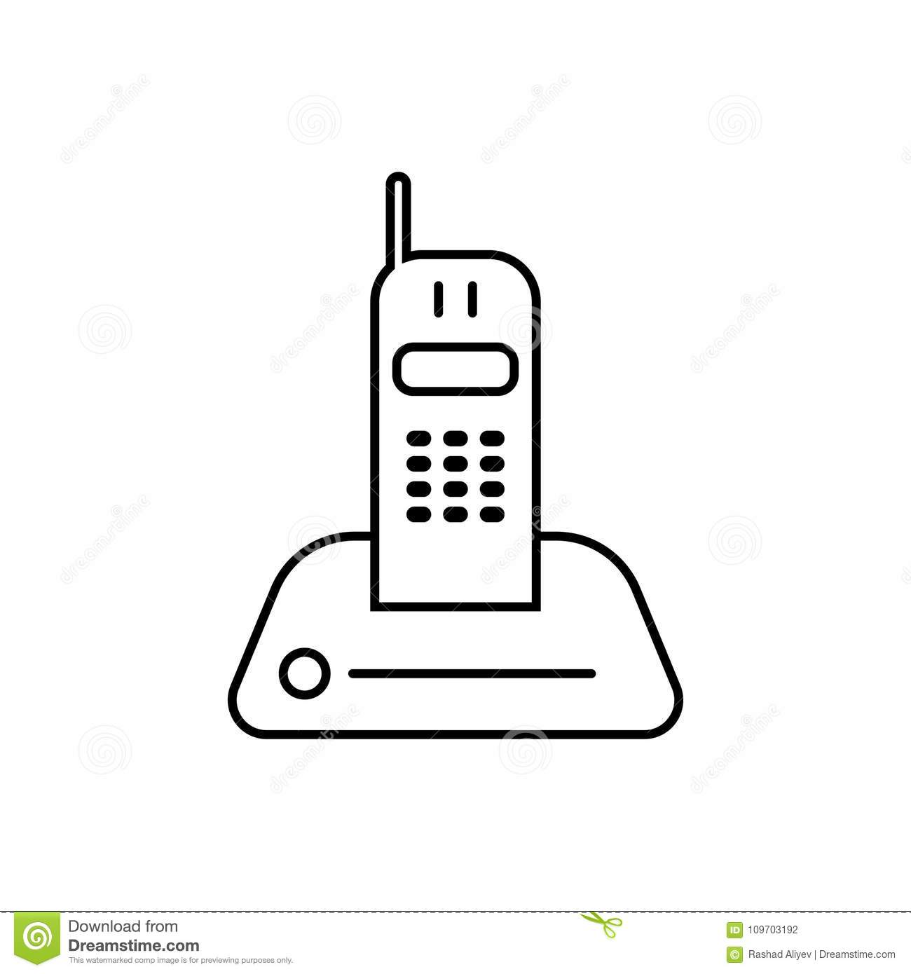 radio telephone icon. Element of home appliances for mobile concept and web apps. Thin line icon for website design and developmen