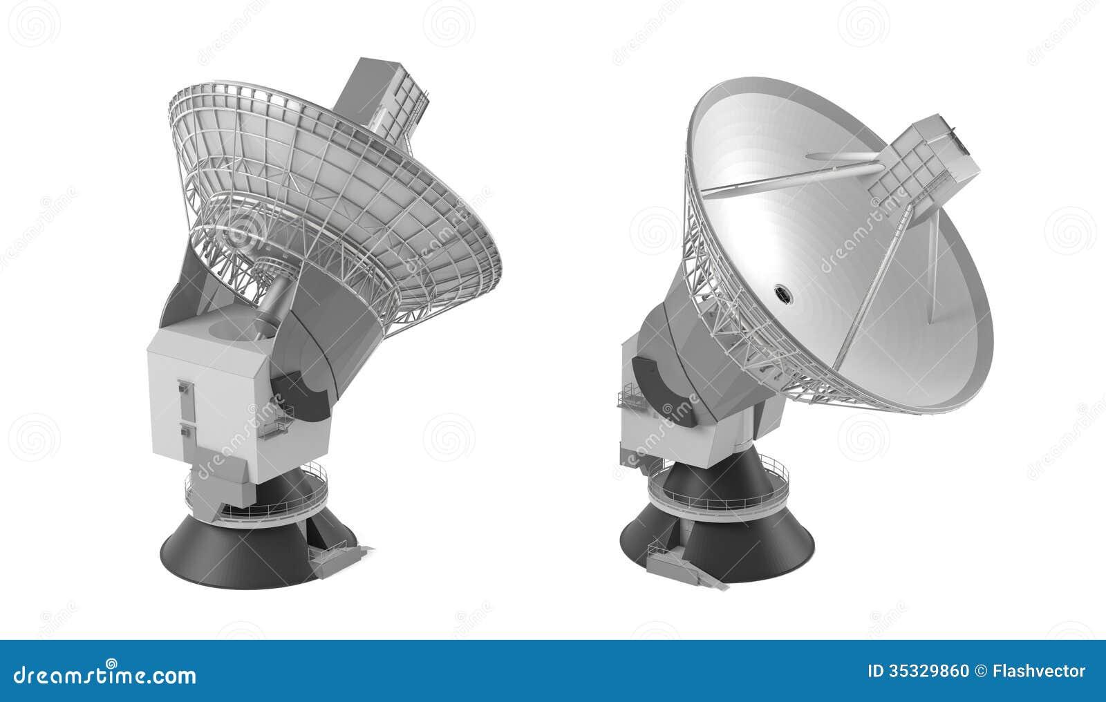 Radio Telescope Hug Antenna Stock Photo Image 35329860
