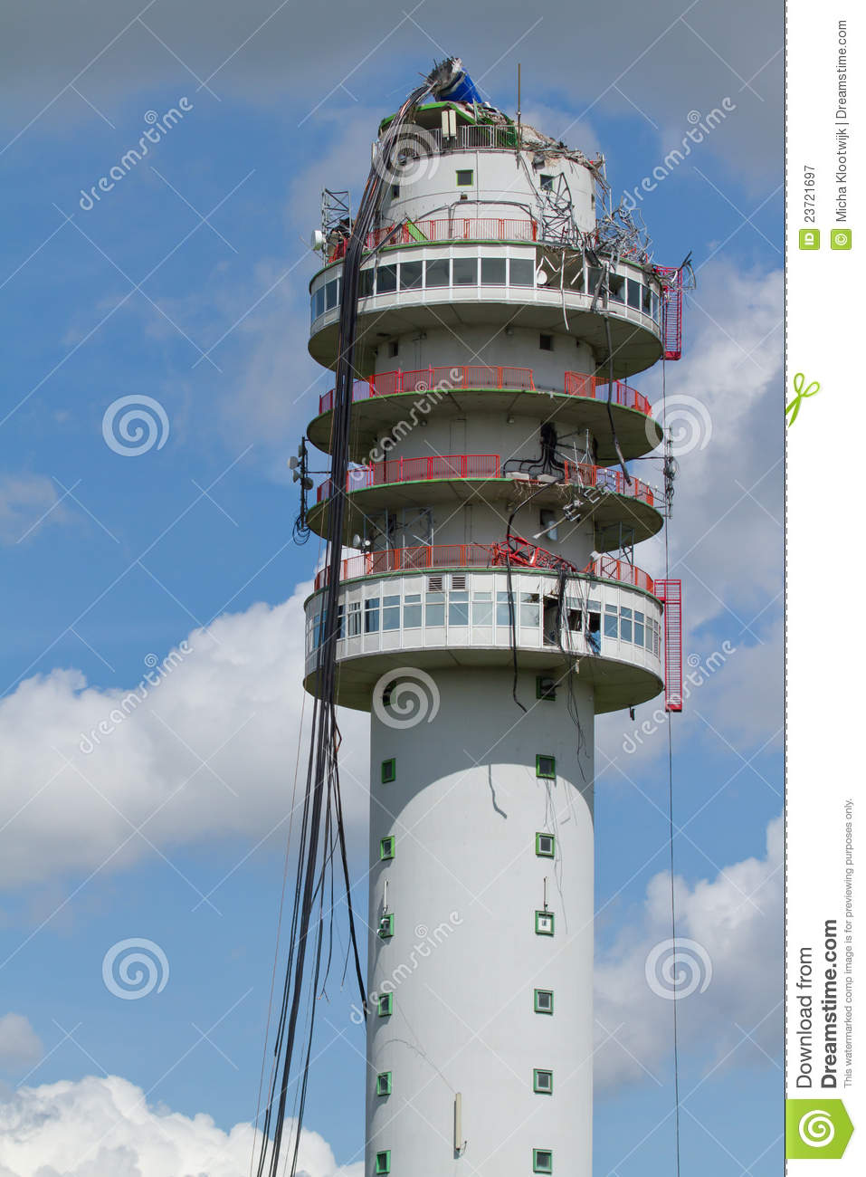 Radio Television Tower collapsed