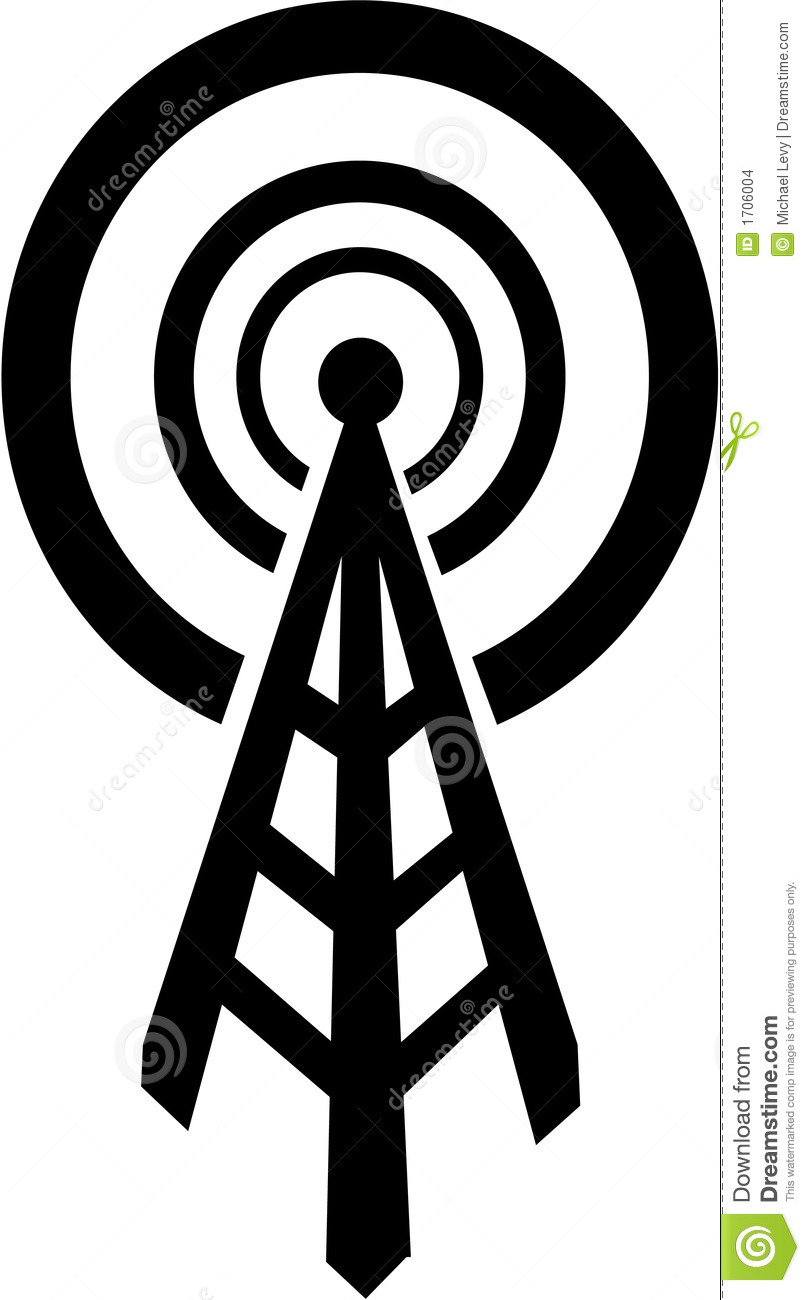 Broadcast Tower Vector Radio Tower That Broadcasts To