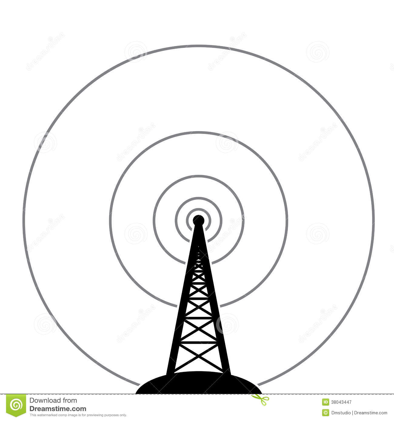 Broadcast Tower Vector vector radio tower broadcast