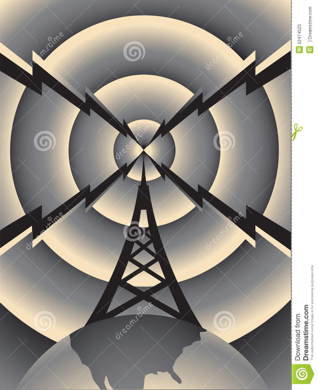 radio tower stock vector illustration of tower  radio Ham Radio Clip Art Ham Radio Clip Art