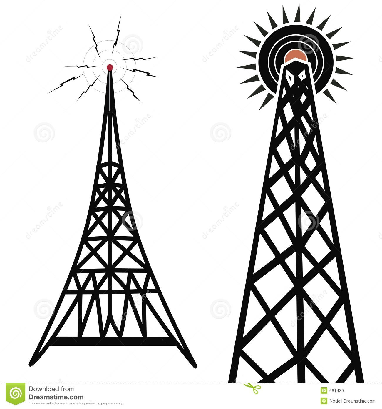 Radio Towers Royalty Free Stock Images - Image: 661439