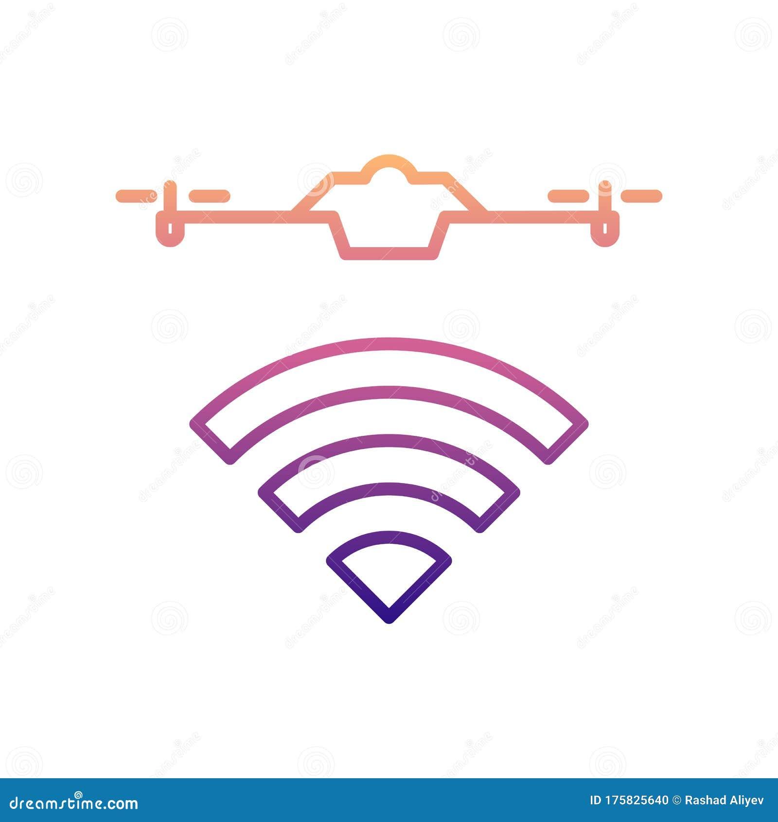 Radio Wave Of The Drone Nolan Icon. Simple Thin Line