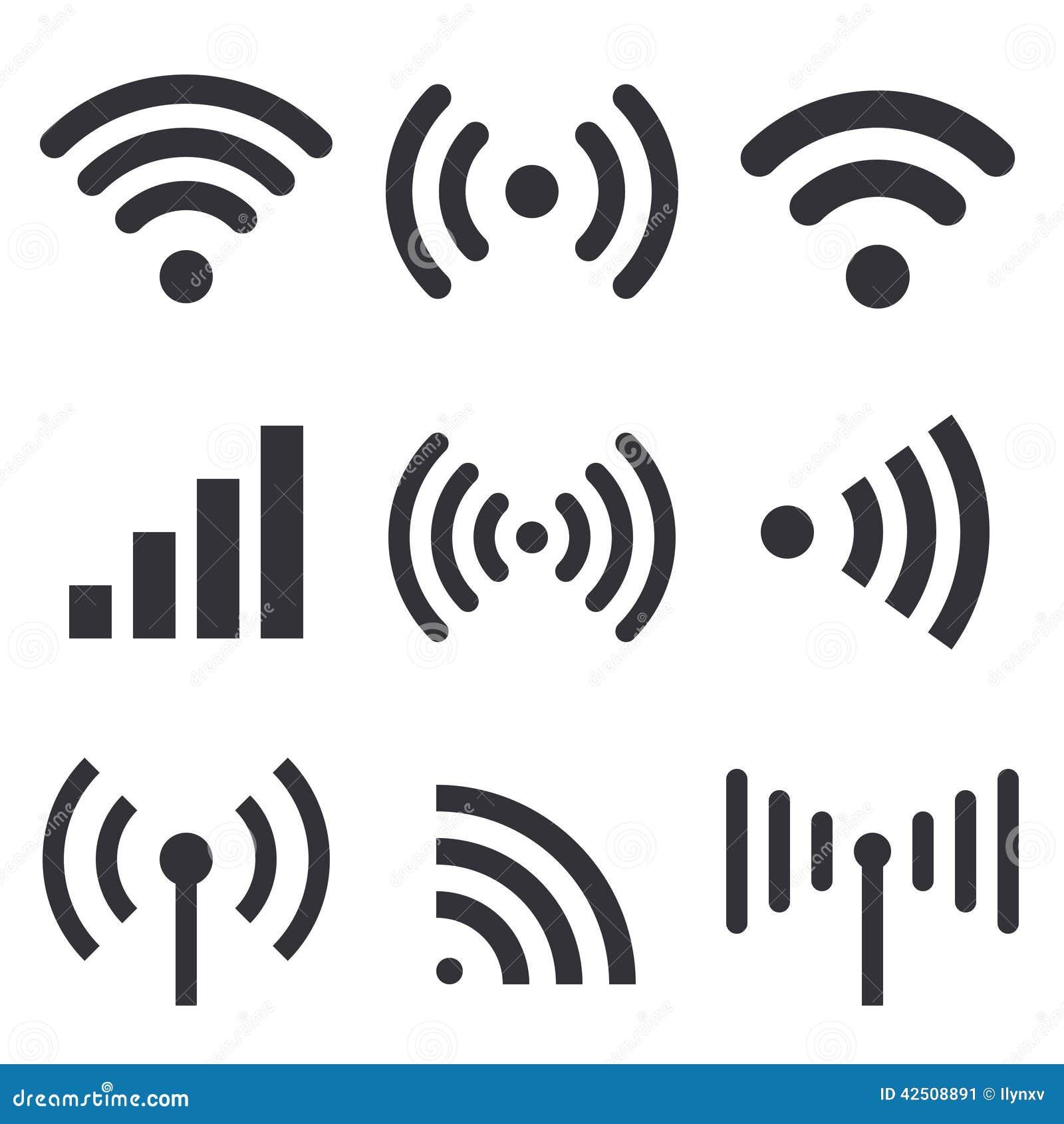 radio waves stock vector
