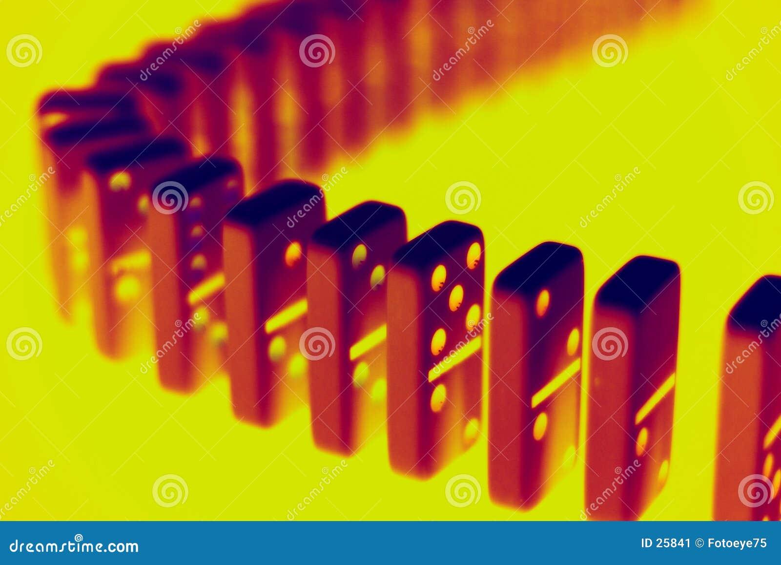 Radioactive dominoes