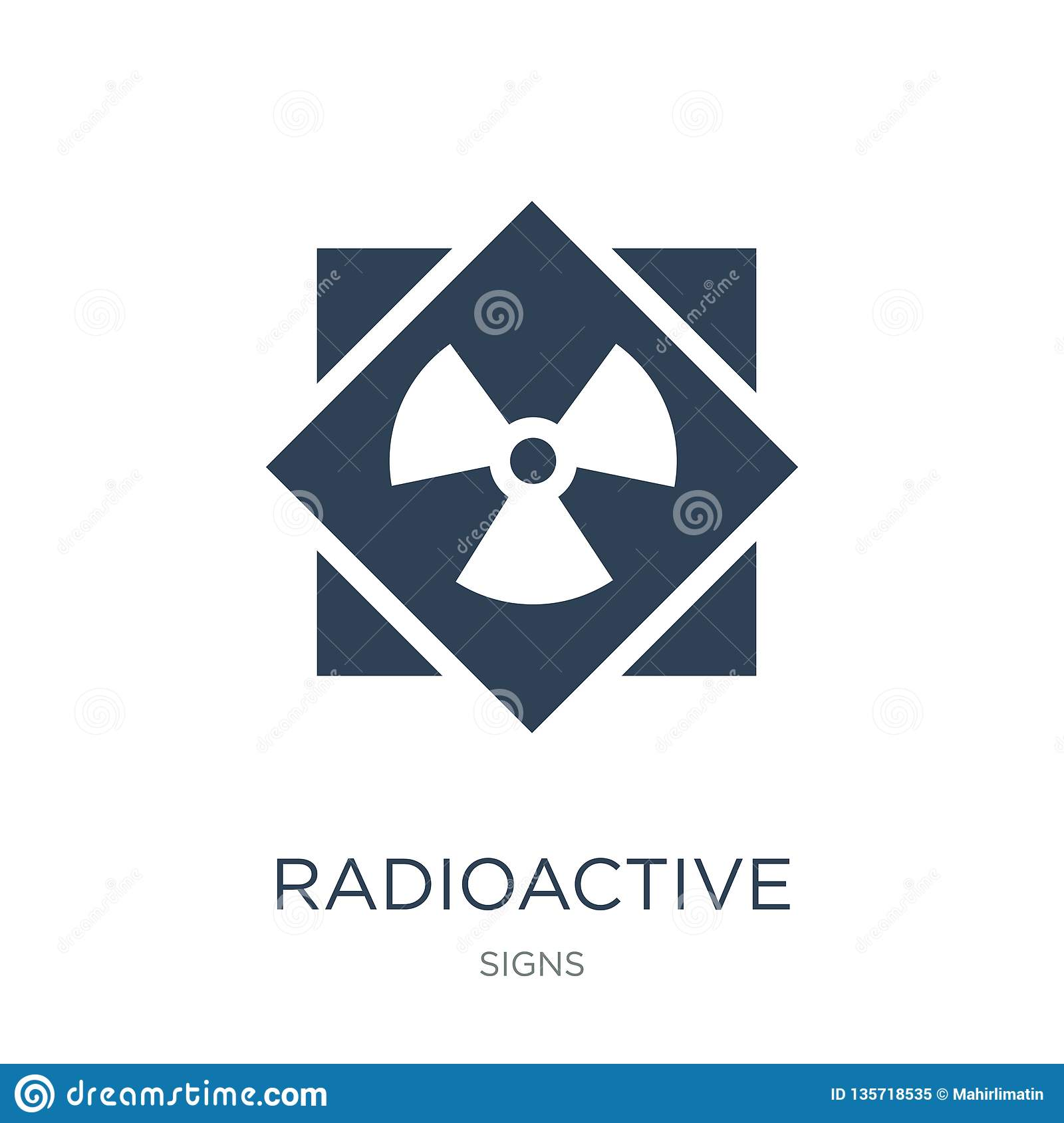 radioactive icon in trendy design style. radioactive icon isolated on white background. radioactive vector icon simple and modern