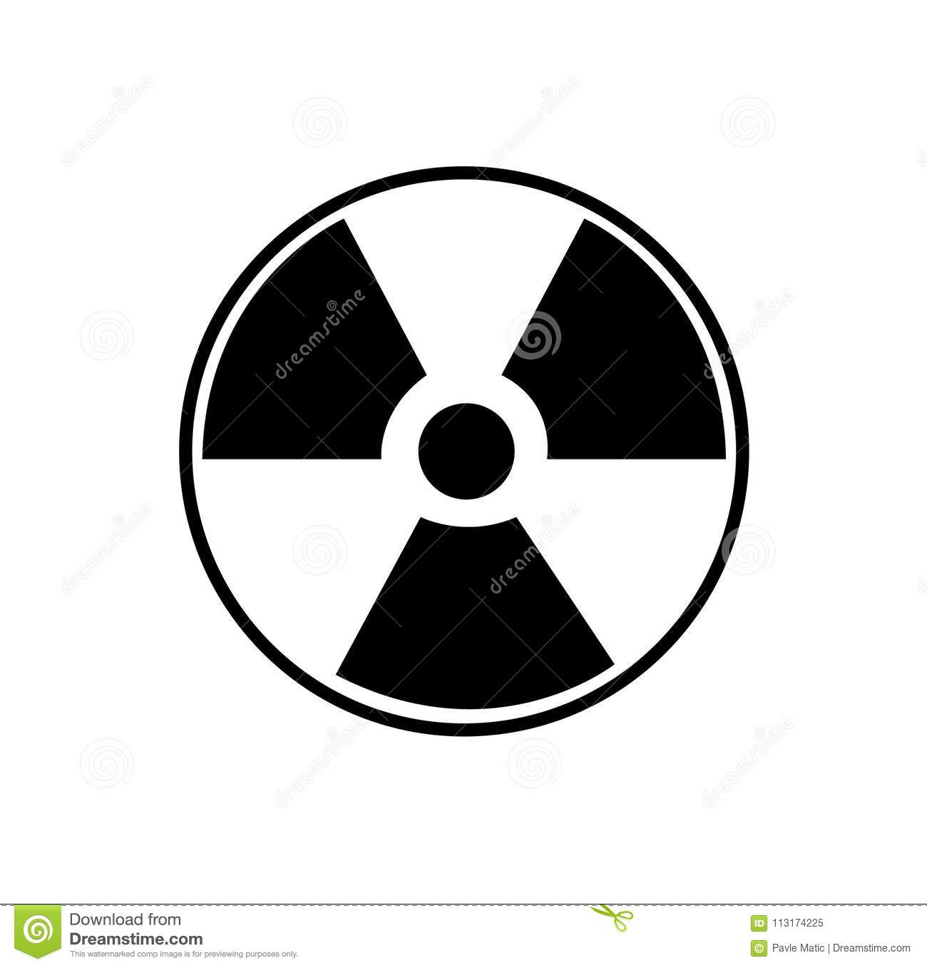 Radioactive Nuclear Waste Symbol And Sign Stock Vector