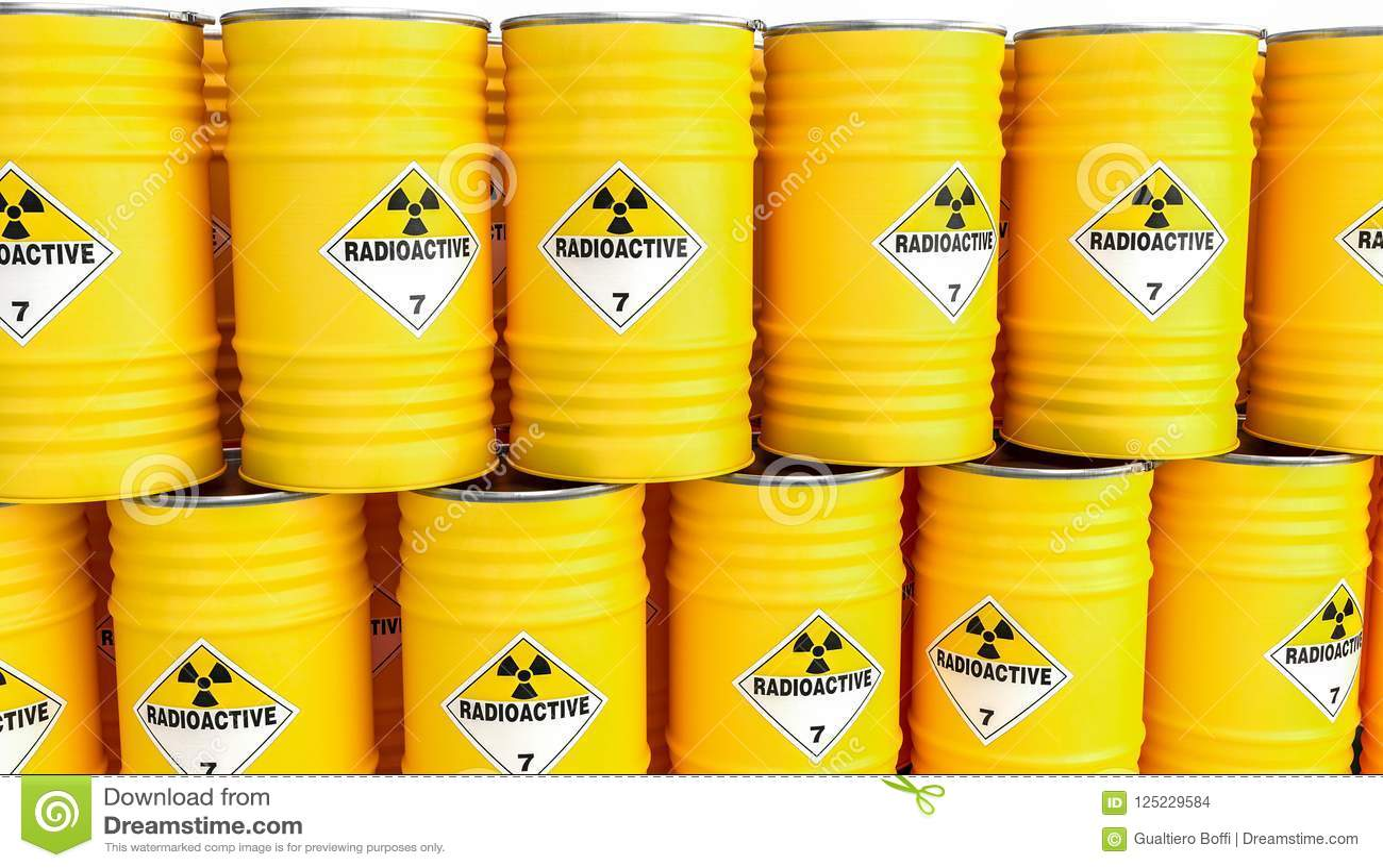 Radioaktives gelbes Fass