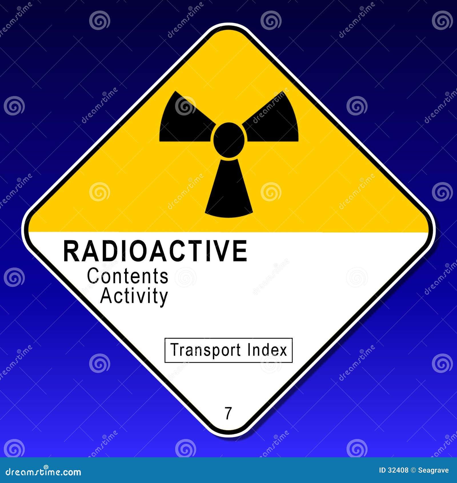 Radioaktives Schild 2