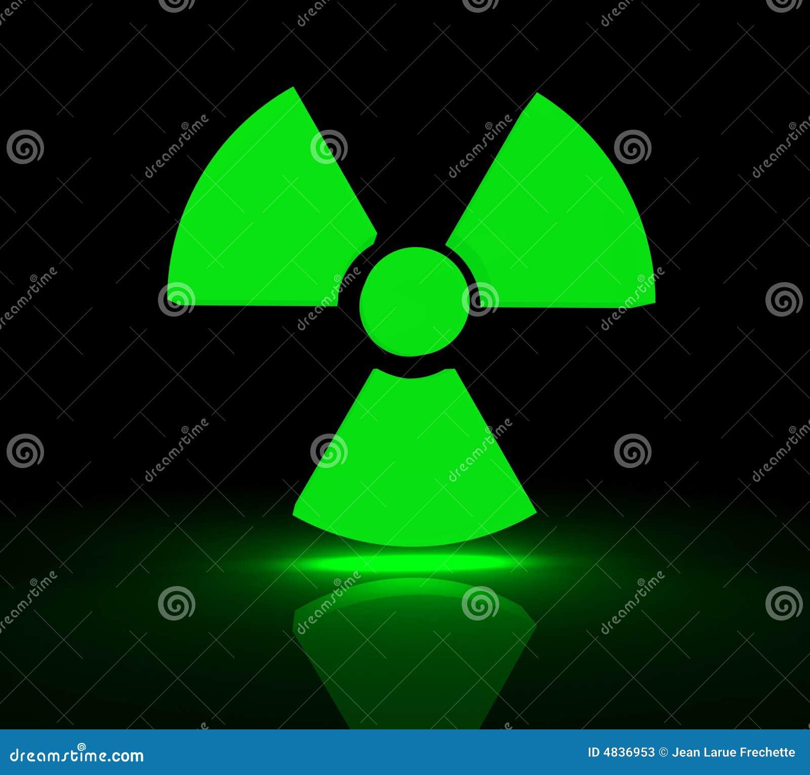 Radioaktives Symbol stock abbildung. Illustration von ...
