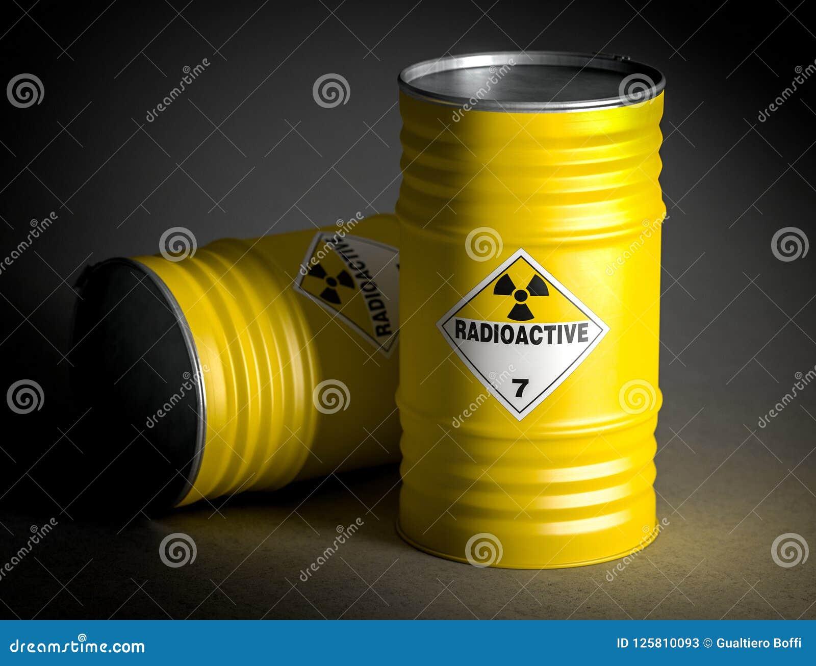 Radioaktives Wiedergabebild des Fasses 3d