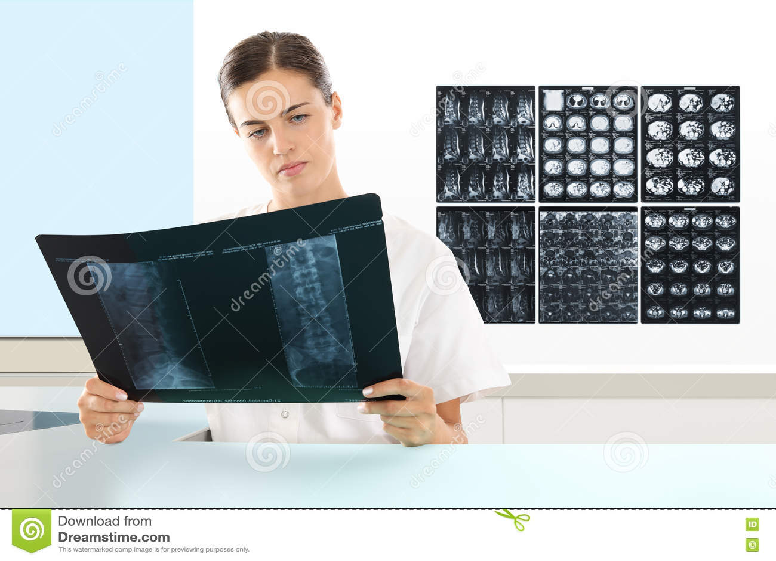 RadiologistDoctorCheckingXrayHealthcareMedical