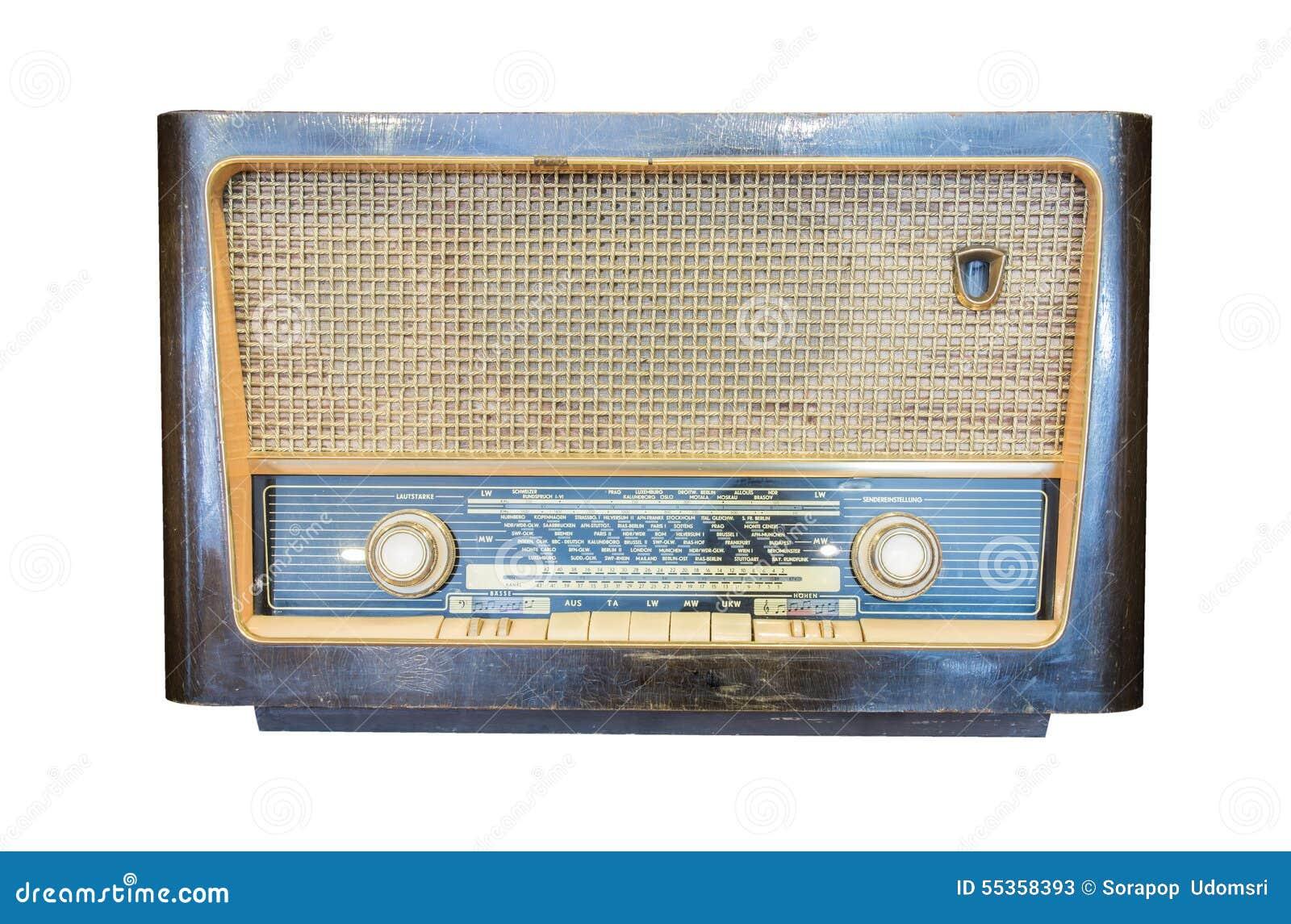 Radioricevitore anziano dell isolato di secolo scorso
