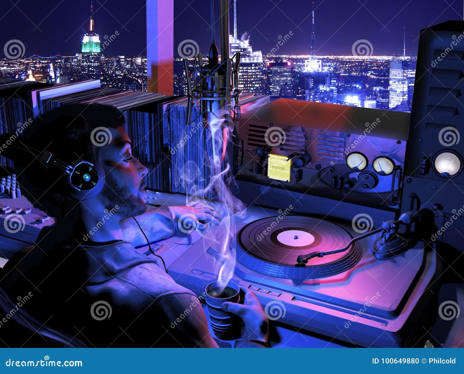 Radiowirt nachts