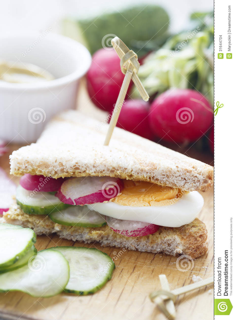 Radish And Cucumber Sandwich Stock Images - Image: 31644704