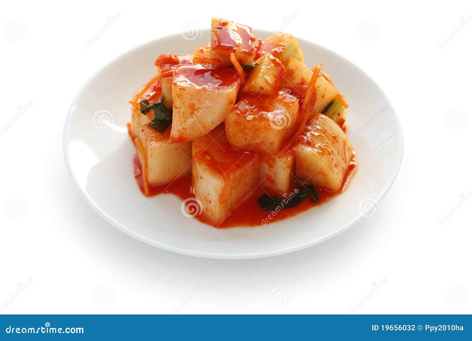 Radish Kimchi Korean Food Stock Photo Image Of