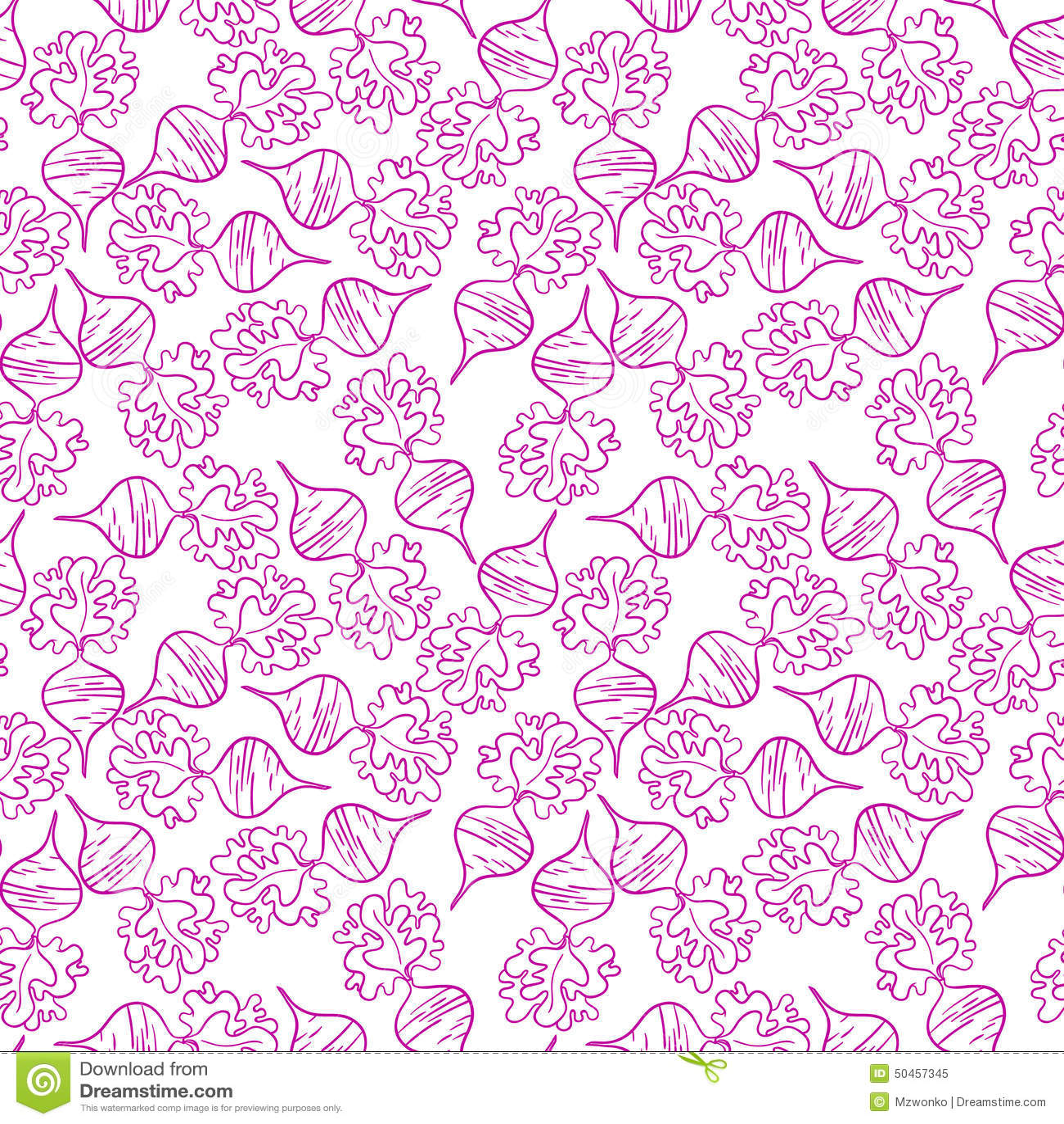 Radish pattern. Beetroot