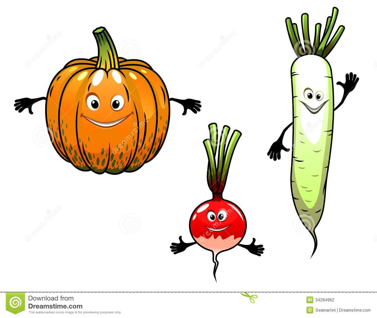 ... vegetables with smiles in cartoon mascot style for bio food design