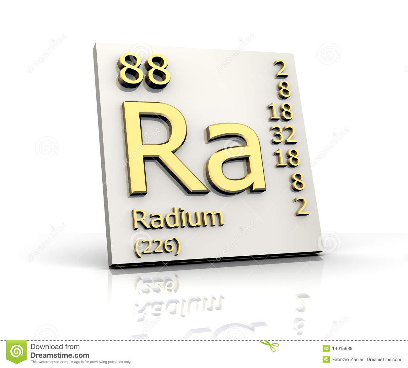 Radium Form Periodic Table Of Elements Royalty Free Stock Images ...