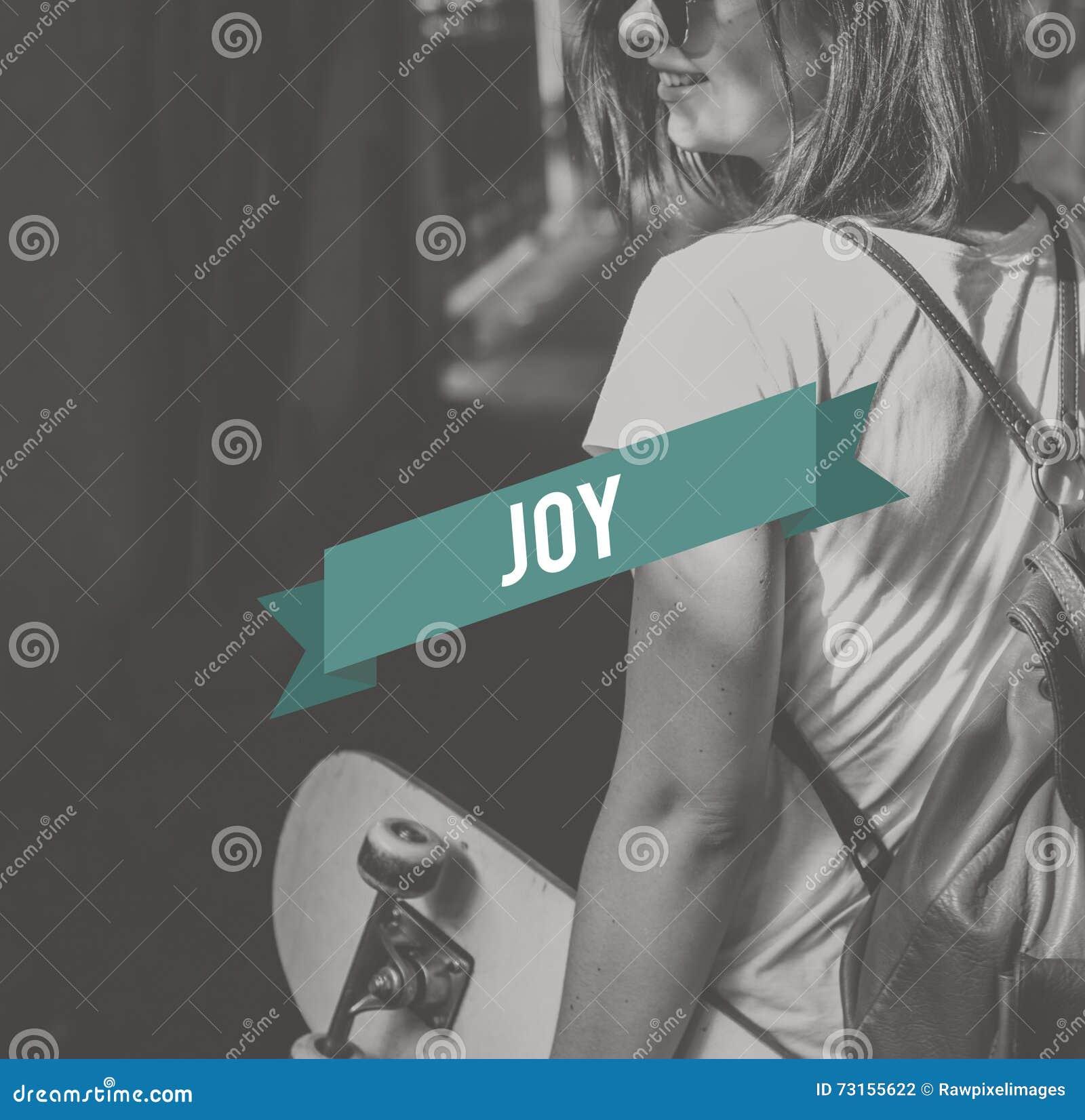 Radość Docenia przyjemności życia pojęcie