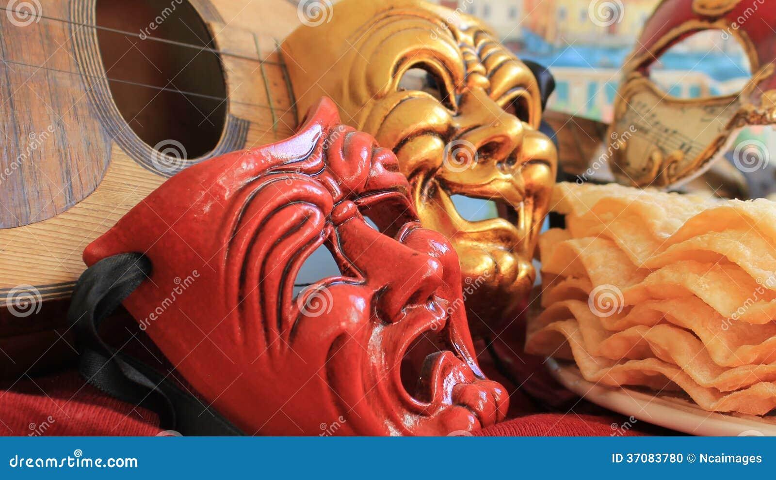 Download Radości I Smucenia Karnawału Maska Zdjęcie Stock - Obraz złożonej z muzyka, pożyczający: 37083780