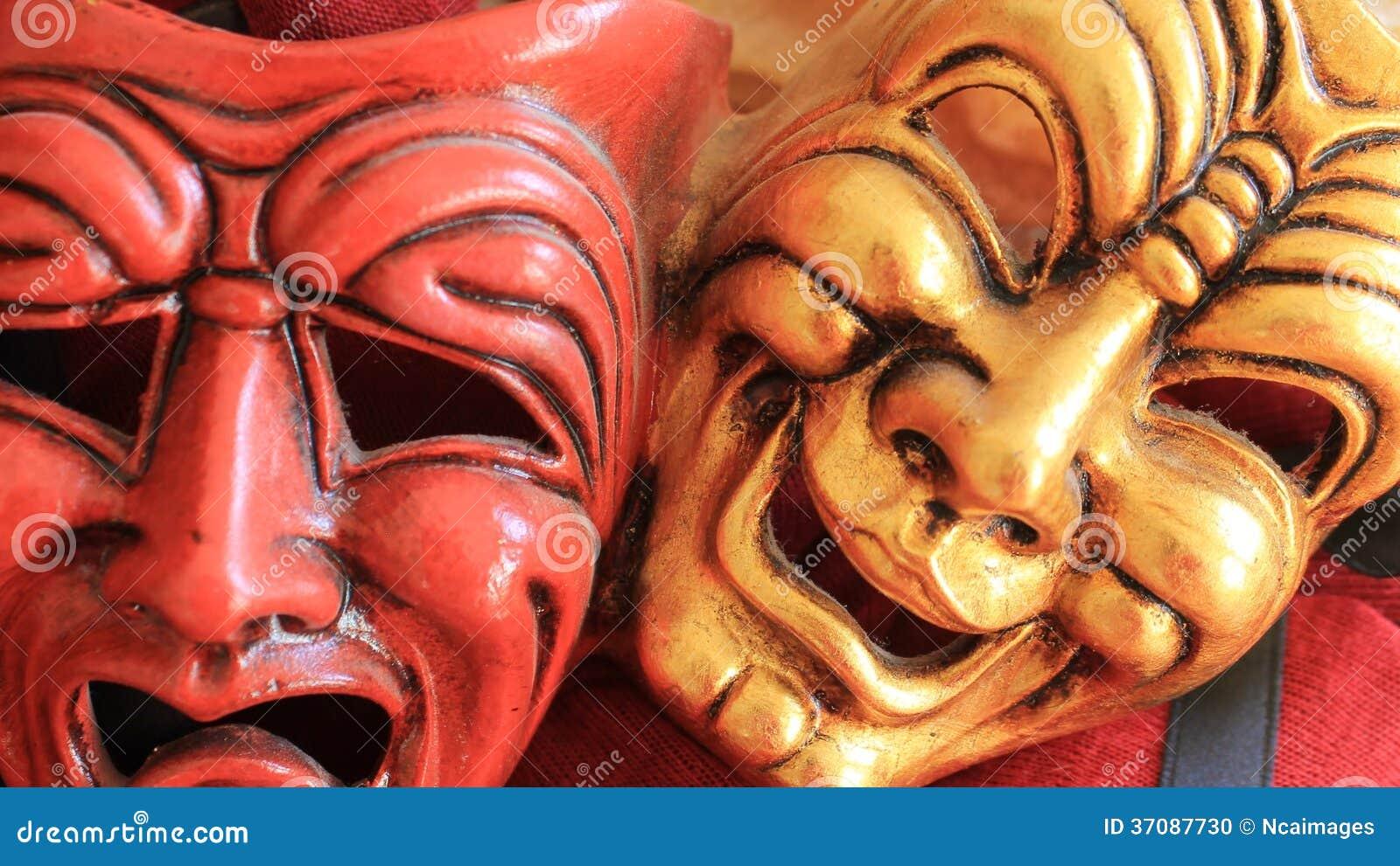 Download Radości I Smucenia Karnawału Maska Zdjęcie Stock - Obraz złożonej z płacz, płacze: 37087730