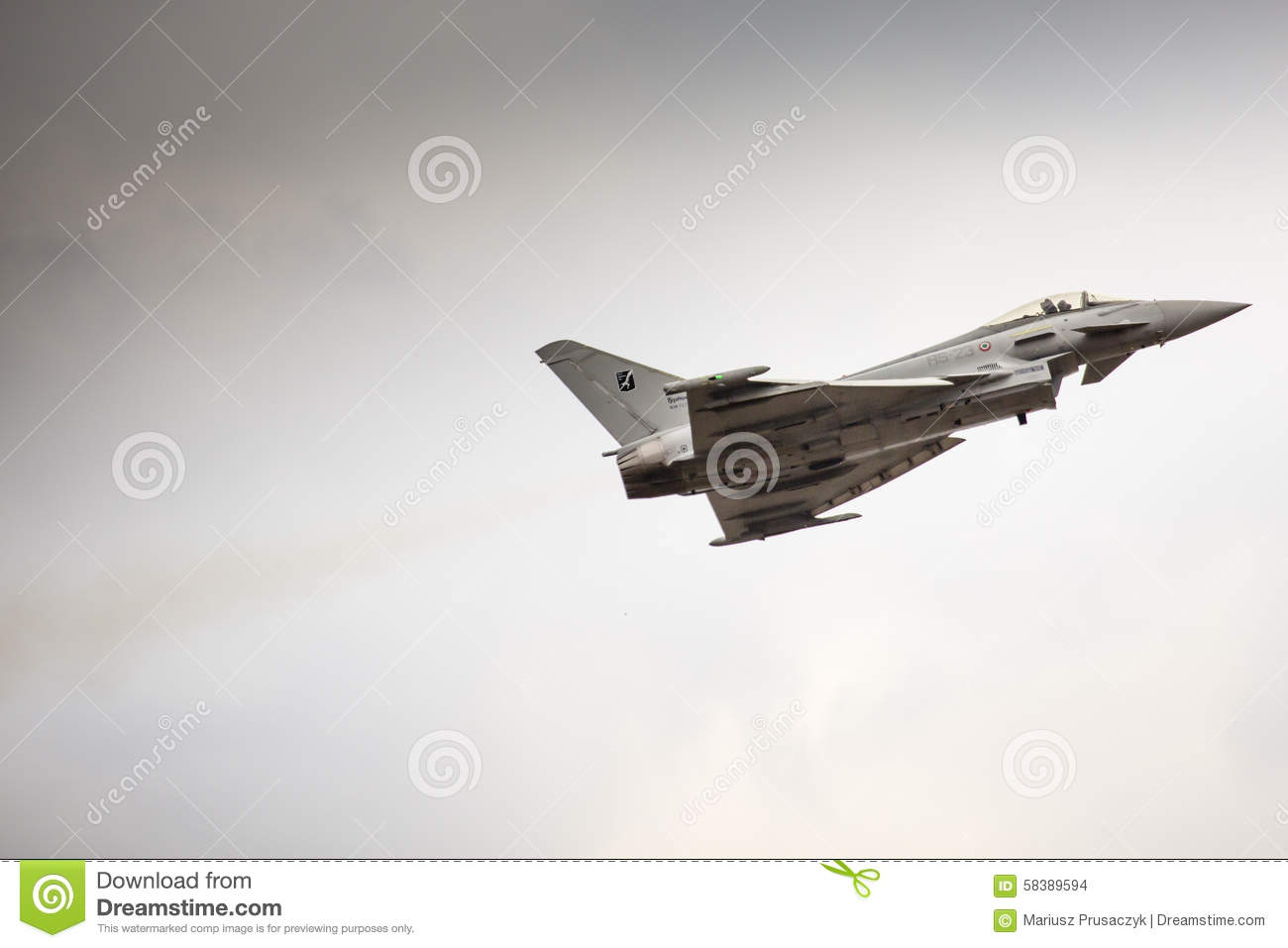 RADOM, POLAND - AUGUST 23: Italian EFA-2000 Eurofighter Typhoon