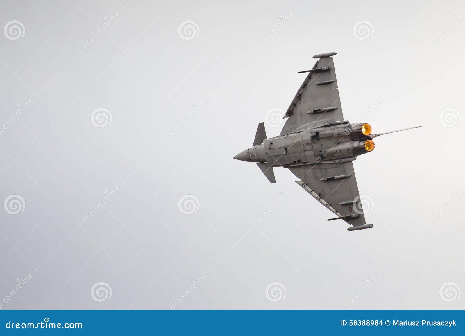 RADOM, POLOGNE - 23 AOÛT : EFA-2000 italien Eurofighter Typhoon