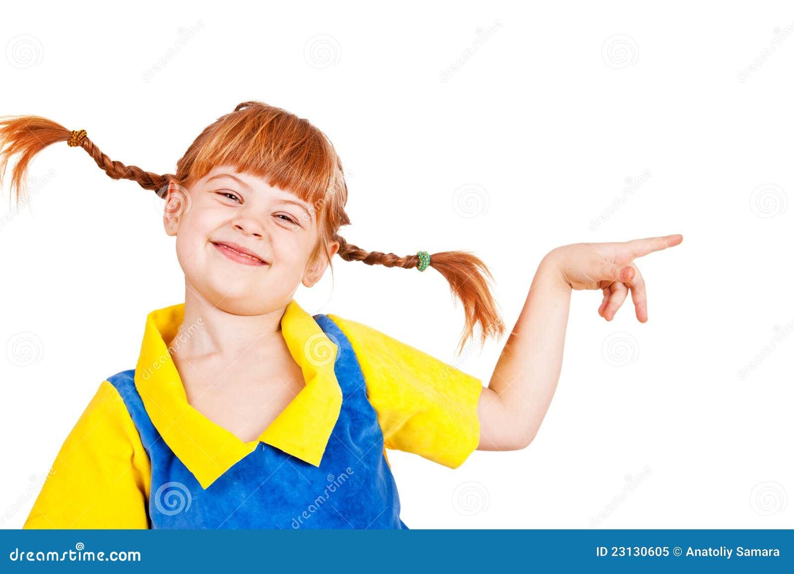 Radosna mała dziewczynka