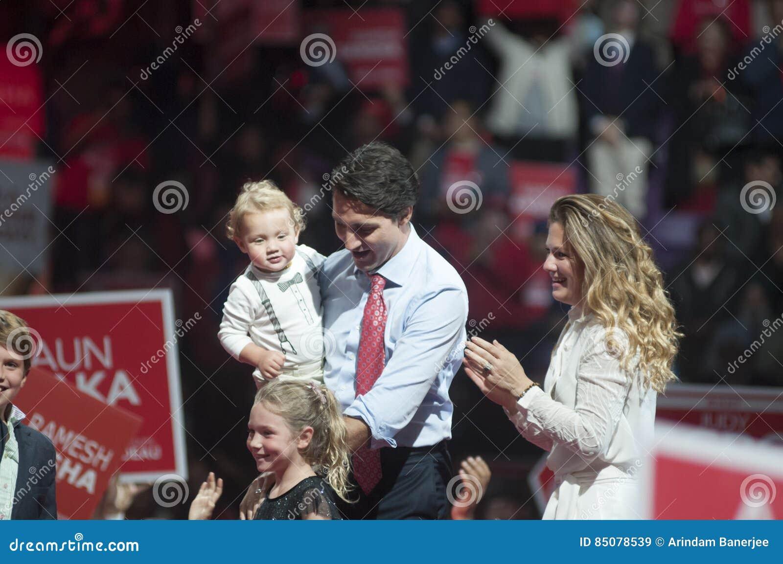 Raduno di elezione di Justin Trudeau