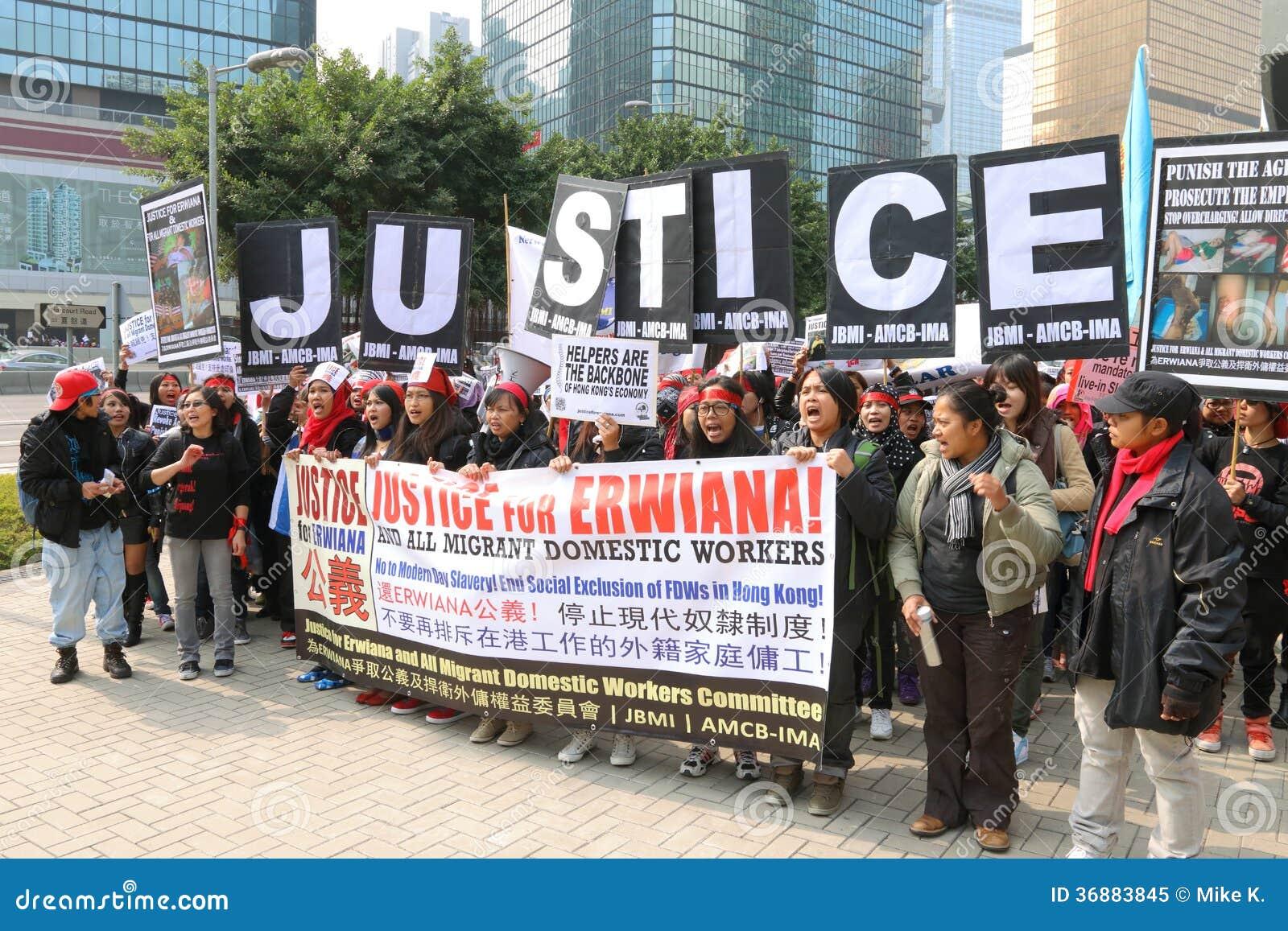 Download Raduno Per Giustizia Per Erwiana In Hong Kong Immagine Editoriale - Immagine di nazionale, domestica: 36883845