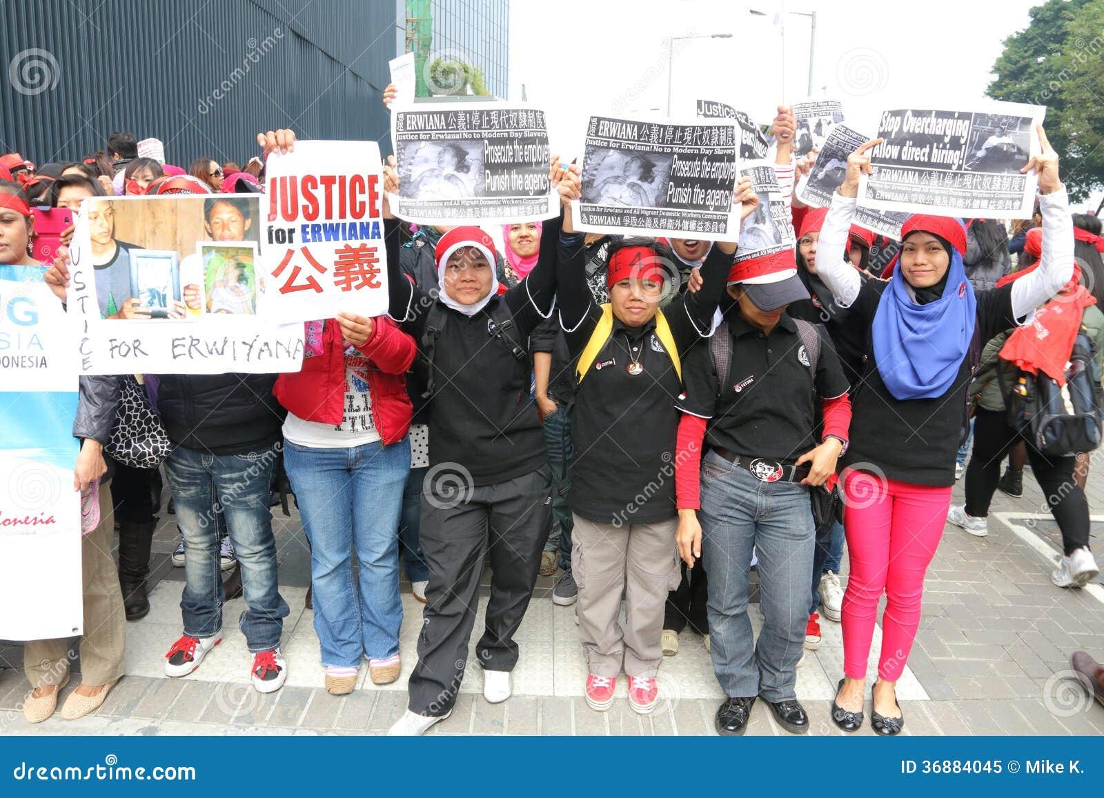 Download Raduno Per Giustizia Per Erwiana In Hong Kong Immagine Editoriale - Immagine di raduno, hong: 36884045