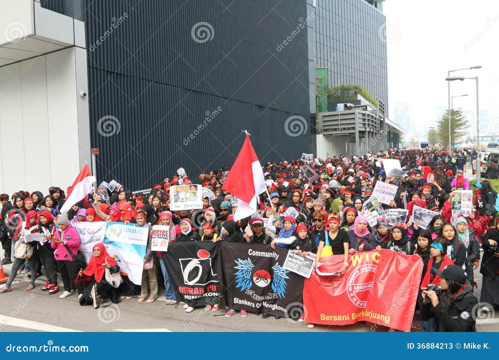 Download Raduno Per Giustizia Per Erwiana In Hong Kong Fotografia Stock Editoriale - Immagine di giustizia, nazionale: 36884213