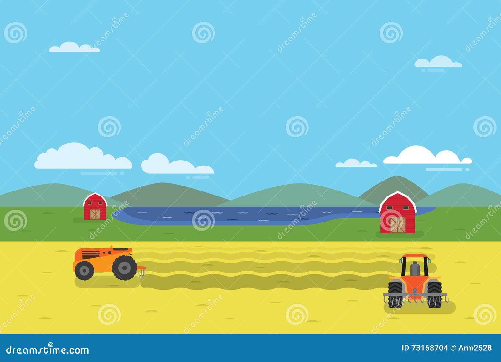 Radura del trattore il campo