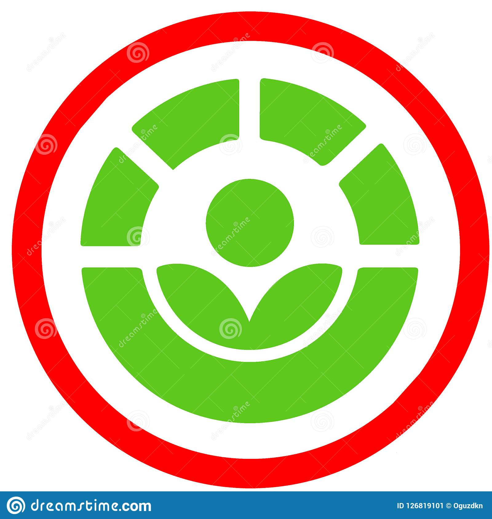 The Radura Process Allowed For Food Disenfection Red Circular Road